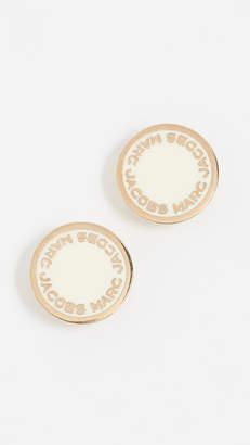 At Bop Marc Jacobs Enamel Logo Disc Stud Earrings