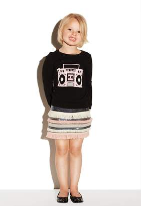 Milly Minis MillyMilly Boombox Novelty Intarsia Pullover