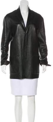 DKNY Leather Short Coat