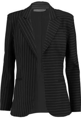 Norma Kamali Striped Crepe Blazer