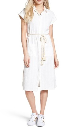 Women's Moon River Linen & Cotton Shirtdress $95 thestylecure.com