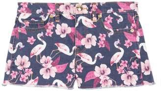 Juicy Couture Flamingo Print Denim Short for Girls