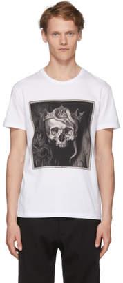 Alexander McQueen White Skull Print T-Shirt