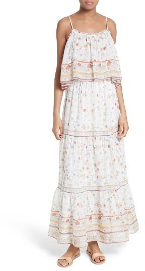 Women's Joie Vernita Popover Bodice Silk Maxi Dress