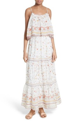 Women's Joie Vernita Popover Bodice Silk Maxi Dress $448 thestylecure.com