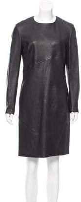 Bottega Veneta Long Sleeve Leather Dress w/ Tags