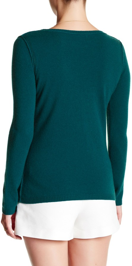 In Cashmere Cashmere Open-Stitch Pullover Sweater 29