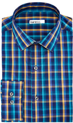 Bar III Men's Slim-Fit Stretch Easy-Care Double Multi Check Dress Shirt, Created For Macy's