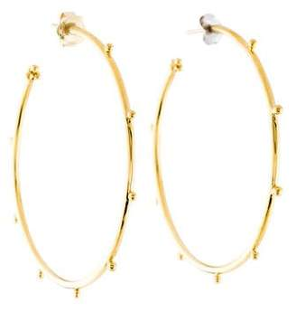 Temple St. Clair 18K Granulated Large Hoop Earrings