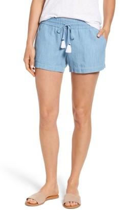 Women's Vineyard Vines Drawstring Chambray Shorts $78 thestylecure.com