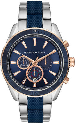 Armani Exchange Chronograph Two-Tone Stainless Steel Bracelet Watch 46mm