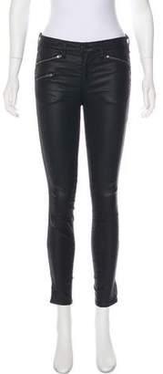 Rag & Bone Coated Mid-Rise Skinny Jeans