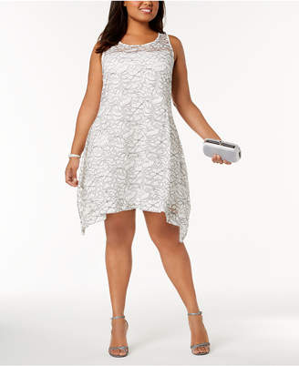 Robbie Bee Plus Size Sleeveless Lace Shift Dress