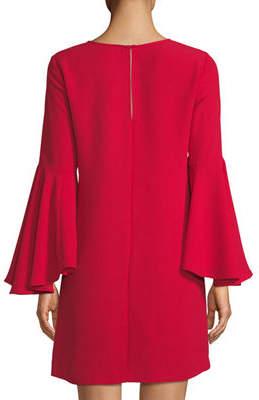 Catherine Malandrino Oversized Bell-Sleeve Shift Dress
