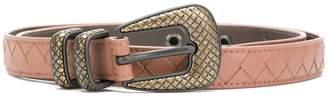 Bottega Veneta dahlia Intrecciato nappa belt
