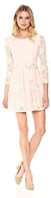 Signature Society Lady's Elegant Pullove Long Sleeve Floral Lace Dress