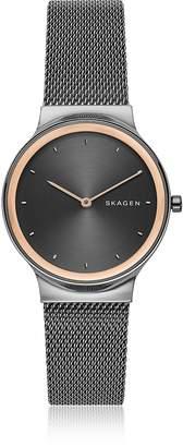 Skagen Freja Dark Gray Steel-Mesh Women's Watch