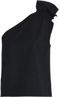 Goen.j One-Shoulder Ruched Woven Top