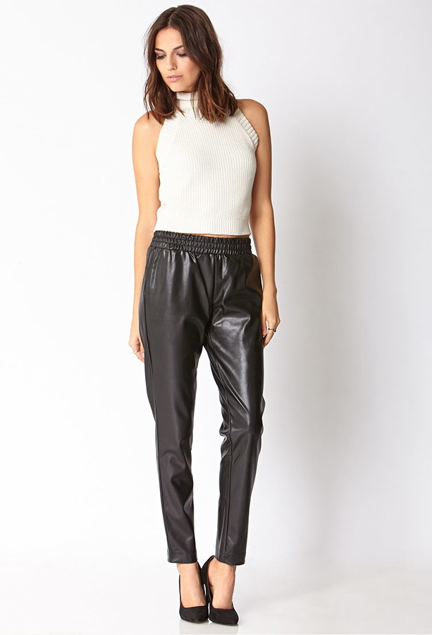 Forever 21 Must-Have Faux Leather Joggers