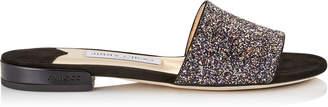 Jimmy Choo JONI FLAT Twilight Glitzy Glitter Fabric Slides