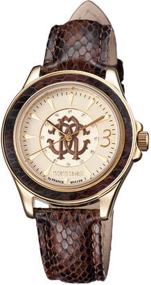 Roberto Cavalli By Franck Muller 37mm Yellow Golden Stainless Steel Bracelet Watch