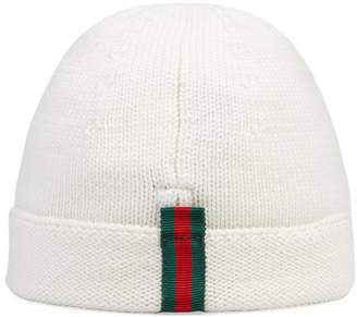 Gucci Children's knitted hat with Web