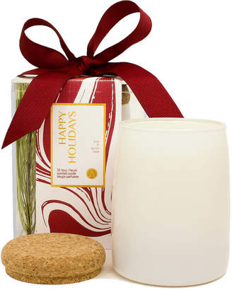 """Aesthetic Content Pine Tree Scented Soy Candles """"Happy Holidays"""" (Set of 2)"""