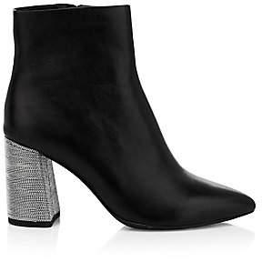 Alice + Olivia Women's Delanie Metallic Heel Leather Ankle Boots