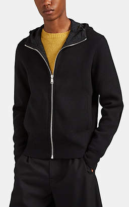 87dd729b Prada Men's Double-Faced Wool-Cashmere Hoodie - Charcoal