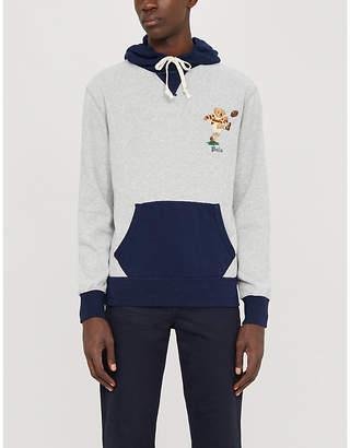 Polo Ralph Lauren Preppy bear-embroidered cotton-blend hoody