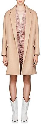 Isabel Marant Women's Filipo Brushed Wool-Cashmere Cocoon Coat - Pink