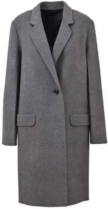 Helmut Lang Grey Single Breasted Coat