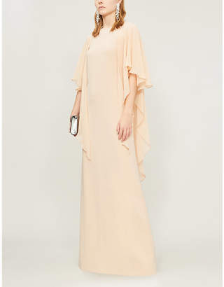 Selfridges Max Mara Elegante Dovere draped-sleeve silk-crepe dress