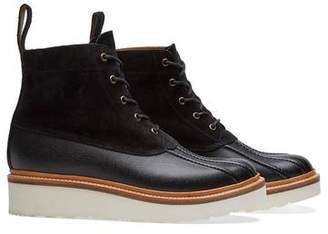 Grenson Shoes Spike Black Burnished Duck Boot