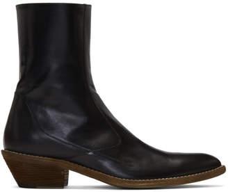 Haider Ackermann Black Ault Cowboy Boots