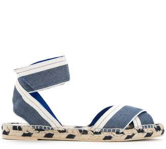 Stella McCartney denim raffia espadrille sandals