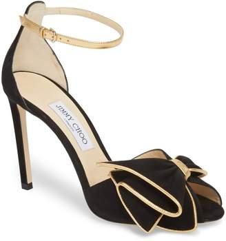 Jimmy Choo Karlotta Bow Ankle Strap Sandal