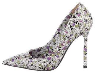 Bottega Veneta Floral Pointed-Toe Pumps