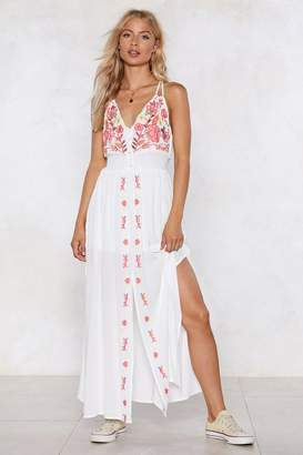Nasty Gal Say It Ain't Sew Embroidered Dress