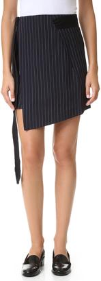 Marissa Webb Lora Pinstripe Miniskirt $350 thestylecure.com