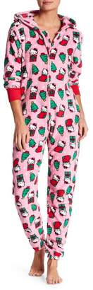 Hello Kitty Holiday Plush Hooded Jumpsuit