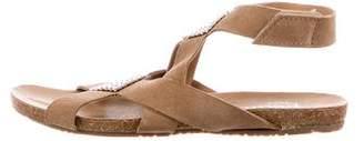 Pedro Garcia Suede Embellished Sandals