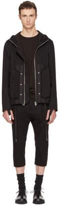 Helmut Lang Black Hooded Utility Jacket
