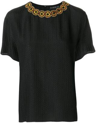 Etro collar trim top