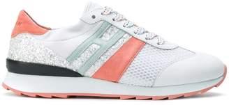 Hogan glitter-panelled sneakers
