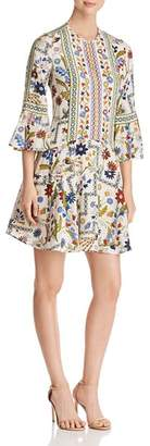 Tory Burch Daphne Botanical Print Silk Dress