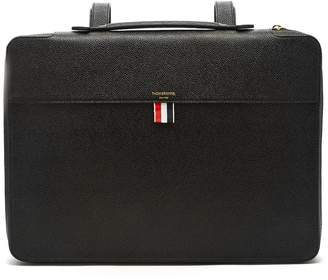 Thom Browne Top-handle pebbled-leather document holder