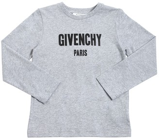Givenchy Logo Cotton Jersey Long Sleeve T-Shirt