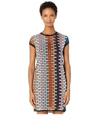 M Missoni Cap Sleeve Short Dress in Brick Stitch