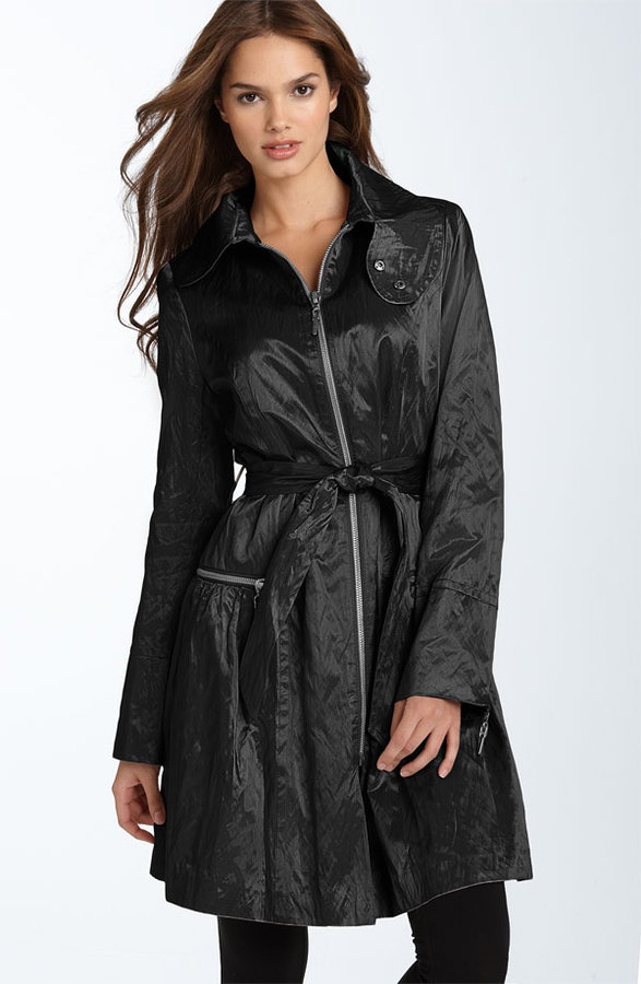 Nicole Miller Metallic Trench Coat